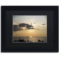 Trademark Fine Art Dramatic Skyscape Canvas Art by Kurt Shaffer, Black Matte, Black Frame, Size: 11 x 14, Beige