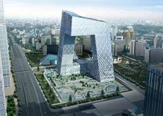 Headquarters of China Central Television (CCTV) in Beijing, China.