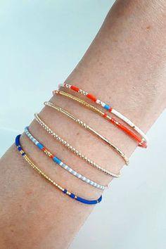 36 Beautiful Bracelet Ideas For women - MyOwnJewelry - Jewelry Designs & Ideas Simple Bracelets, Layered Bracelets, Seed Bead Bracelets, Seed Bead Jewelry, Cute Jewelry, Beaded Jewelry, Jewelry Bracelets, Jewelery, Jewelry Accessories