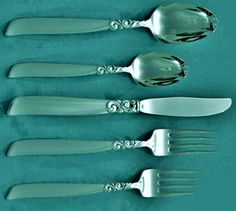 SOUTH SEAS 5 Piece Place Setting(S) Oneida 1955 Silverplate Flatware #Oneida