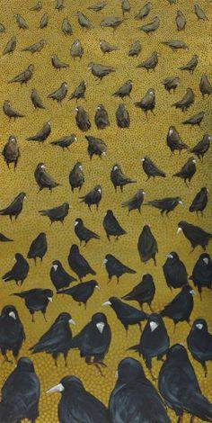 We present: crows IV - Krzysztof Kiwerski. One of the many paintings by Krzysztof Kiwerski. Crow Art, Raven Art, Bird Art, Gravure Illustration, Illustration Art, Blackbird Singing, Quoth The Raven, Jackdaw, Crows Ravens