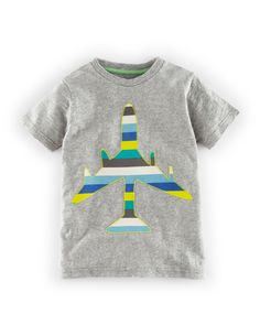Mini Boden Graphic Appliquee T-Shirt.