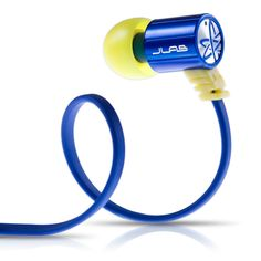 JLab JBuds J4 #Heavy Bass Metal In-Ear Earbuds Style #Headphones (Blue / Yellow) http://on.fb.me/1wgBqZX