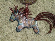 Stone Ponies Ride Free enamel horse necklace in by PyxeeStyx, $250.00