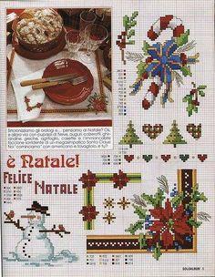 Christmas Motifs 2 of 4 Cross Stitch Christmas Ornaments, Xmas Cross Stitch, Cross Stitch Pillow, Cross Stitch Borders, Christmas Embroidery, Christmas Cross, Cross Stitch Charts, Cross Stitch Designs, Cross Stitch Patterns