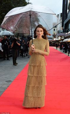 Keira Knightley in Valentino - At the premiere of 'The Imitation Game' @ London Film Festival. (October 2014)