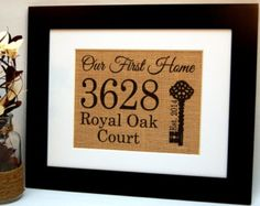 Personalized Housewarming Gift Burlap Sign Home by BusyBeeBurlap