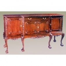 Mahogany Chippendale Breakfront Buffet