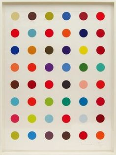 """I know I have a super expensivo and fancy art education and I...  Damian Hirsch """"Dots"""""""