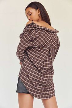 Slide View: 2: BDG Molly Flannel Button-Down Shirt