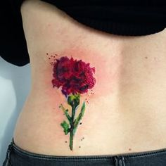 watercolor carnation tattoo - Google Search