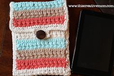 Star Stitch 7′ Tablet Case- Free Crochet pattern! | This Creative Mom