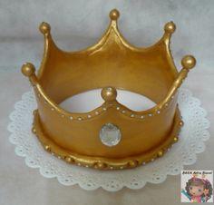 Topo de Bolo Fondant Crown, Crown Cake, 49ers Cake, 21st Birthday, Birthday Cake, Make A Crown, Heart Cakes, Baby Shower Cakes For Boys, Fondant Tutorial