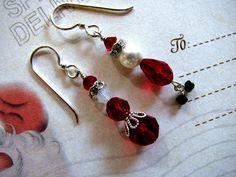 Cute Santa & Mrs Claus earrings~
