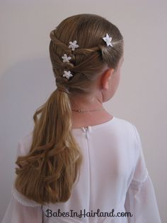 Baptism Hairstyle – Twists & Knots   Babes In Hairland