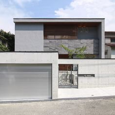 Modern home in Ashiya-city, Hyogo Prefecture My Home Design, House Design, Garage Design, Facade House, Townhouse, Ideal Home, Entrance, House Plans, Exterior