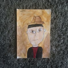 Mister-Canson paper and aquarelle colors (8yrs. old)
