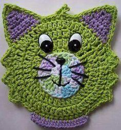 56 ideas for crochet dishcloth scrubbie pot holders Marque-pages Au Crochet, Chat Crochet, Crochet Amigurumi, Crochet Motifs, Crochet Dishcloths, Crochet Stitch, Crochet Squares, Crochet Home, Crochet Gifts