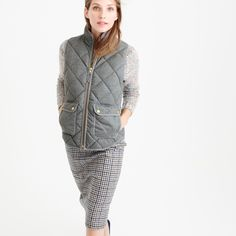 Excursion quilted vest in flannel : puffers and vests   J.Crew