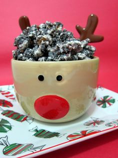 "Peppermint Cookies & Cream Popcorn | Plain Chicken  I like to call this ""Christmas Crack"" - I get a tummy ache from eating too much because it tastes like Thin Mints!"
