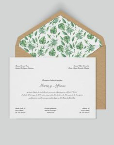 Clasic Collection - Greenery Wedding invitation