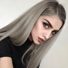 This girl is everything. We love her hair and make up so much #silverhair #greyhair #touchofsilver