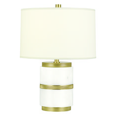 Table lamp with a polished stone