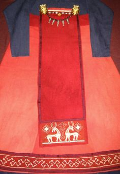- Вельга- Apron dress with front cloth, Embroidery used is based on metal wire decorations form Birka.