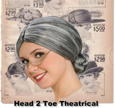 Retro Vintage Black & White promotion. http://stores.ebay.com/Head-2-Toe-Theatrical