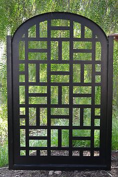 METAL-GATE-CONTEMPORARY-PEDESTRIAN-WALK-THRU-ENTRY-CUT-ART-MODERN-IRON-GARDEN