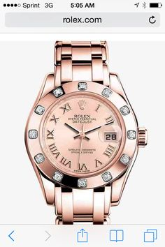 Rose gold Rolex Datejust