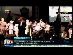 """22 marzo 2012. Rafael Correa, parque El Arbolito, a la llegada de la Marcha a Quito. """"Garroteros de siempre"""", """"violentos"""", """"desestabilizadores"""", """"mentirosos"""", """"fracaso rotundo""""... """"Jamás he dicho 'pelagatos'..."""
