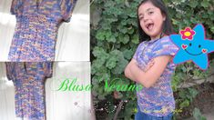 ❤ ✿ Mi Rincón del Tejido ✿ ❤: Como tejer una HERMOSA BLUSA NIÑA CROCHET GANCHILLO talla 8 paso a paso muy fácil - How to crochet a BEAUTIFUL BLOUSE GIRL size 8 step by step very easy Girls Blouse, Beautiful Blouses, Tie Dye, Easy Crochet, Women, Videos, Fashion, Self, Little Girl Clothing