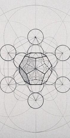 4 metatron s dodecahedron Sacred Geometry Patterns, Sacred Geometry Art, Geometric Drawing, Geometric Shapes, Divine Proportion, Math Art, Desenho Tattoo, Henna Tattoo Designs, Geometric Designs