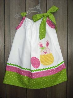 I really need to learn how to make adorable pillowcase dresses like this!