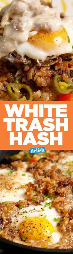 your classy friends will like this White Trash Hash.Even your classy friends will like this White Trash Hash. Breakfast Time, Breakfast Dishes, Breakfast Recipes, Breakfast Hash, Breakfast Ideas, Frozen Breakfast, School Breakfast, Sausage Recipes, Casserole Recipes