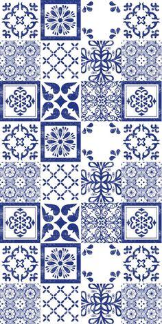 Mexican Indigo Mix Wallpaper Removable Vinyl Wallpaper – Peel & Stick – No Glue, No Mess – Decoration Tile Patterns, Pattern Art, Pattern Design, Vinyl Wallpaper, Wallpaper Designs, Wallpaper Wallpapers, Iphone Wallpaper, Indigo, Blue Pottery