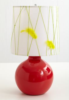 Think this will be a great way to jazz up my boring lamp and incorporate my feature wall - RED :)