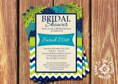 Baby or Bridal Shower Invitations by FromHeadtoToeDesigns on Etsy, $12.00