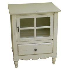 Heather Ann Glass Panel Door, 1-drawer Accent Cabinet - Free Shipping Today - Overstock.com - 17216134 - Mobile