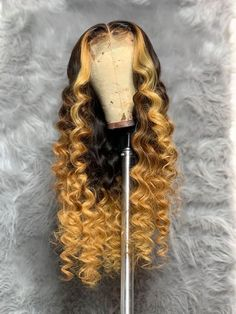 Blond Ombre, Ash Blonde, Blonde Honey, Honey Balayage, Blonde Wig, Light Blonde, Platinum Blonde, Hair Colorful, Colorful Lace Front Wigs
