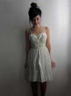 50's Swimsuit / Playsuit with Matching Skirt por tomorrowisforever, $225.00 via Etsy