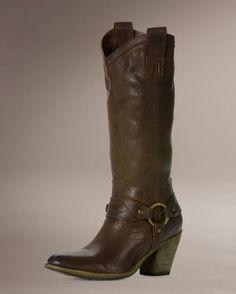 Women's Taylor Harness Boot - Dark Brown
