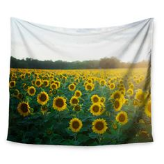sun flower wall tapestry for the front window of the bus!