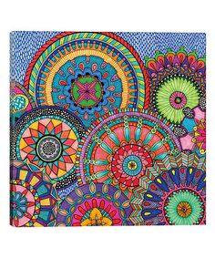 Trademark Art 'Mandala Parade' by Hello Angel Graphic Art on Wrapped Canvas Size: Canvas Wall Art, Canvas Prints, Big Canvas, Canvas Size, Graphic Illustration, Graphic Art, Poster Prints, Framed Prints, Art Print