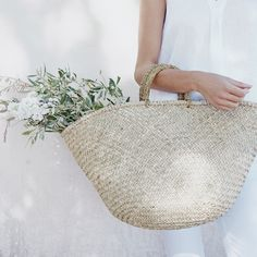 Straw Basket Bag - Natural | The White Company
