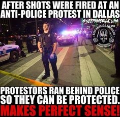 And the police PROTECTED them.