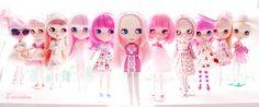 Blythe dolls go pink