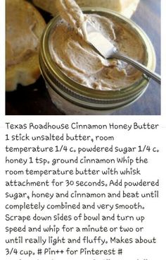 Texas Roadhouse Cinnamon Honey Butter Recipe 2019 Texas Roadhouse Cinnamon Honey Butter Recipe The post Texas Roadhouse Cinnamon Honey Butter Recipe 2019 appeared first on Rolls Diy. Texas Roadhouse Cinnamon Honey Butter Recipe, Honey And Cinnamon, Texas Roadhouse Butter, Texas Roadhouse Recipes, Texas Roadhouse Steak Seasoning, Flavored Butter, Homemade Butter, It Goes On, Restaurant Recipes