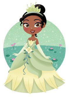 "Princess Tiana from Disney's ""The Princess and the Tiana Disney Princess Drawings, Disney Princess Pictures, Disney Princess Art, Disney Pictures, Disney Drawings, Disney Princesses, Princess Anna, Kawaii Disney, Baby Disney"